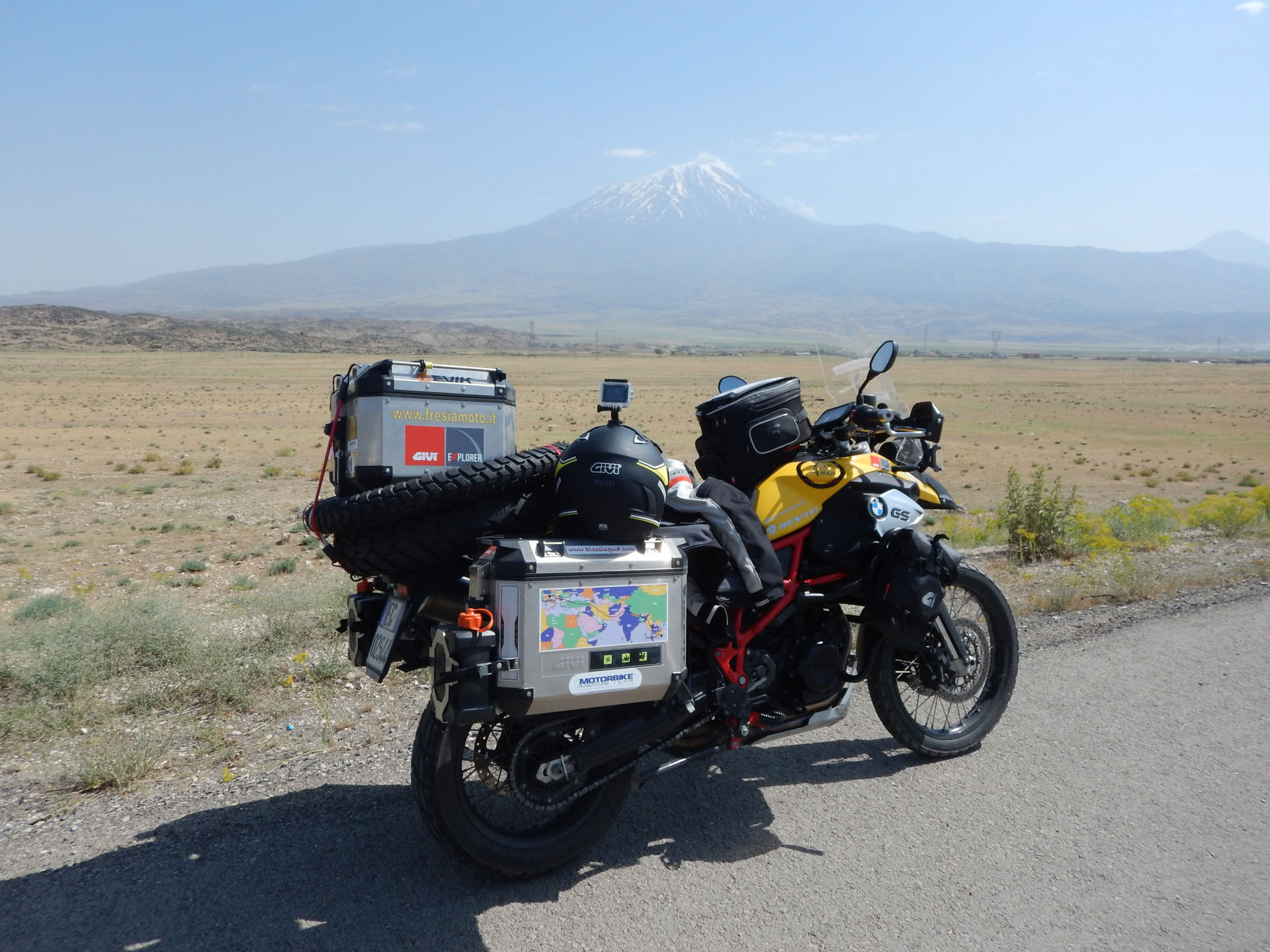 Some Twenty Kilometres To The North And Not Too Far From The Border With  Iran, There Is A Perfect View Of The Volcanic Cone Of Mount Ararat, ...